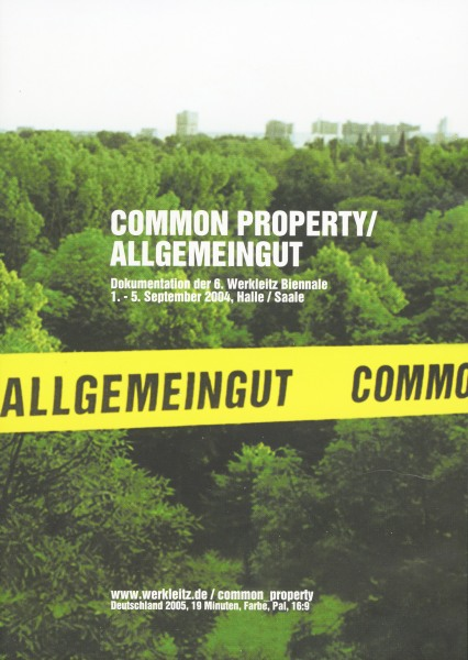 Werkleitz Biennale 2004 Common Property DVD